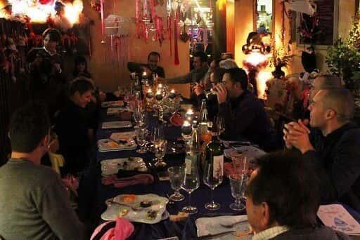 La tavolata al completo - Cena Natale PianetaEmpoli 2012