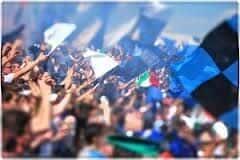 Sbandierata tifosi del Latina in curva