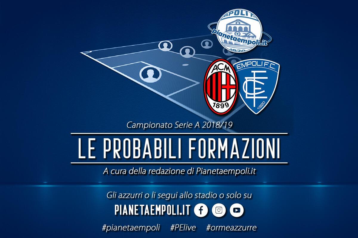 Diretta Milan-Empoli ore 20.30: probabili formazioni e come vederla in tv